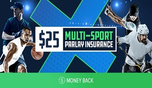FanDuel Multi-Sport Parlay Wager Insurance – Get up to $25 even if you lose